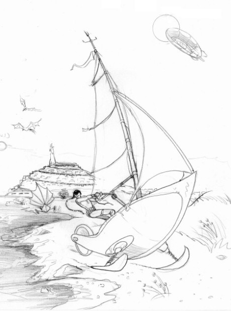 Chaaas sur son voilier terrestre
